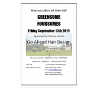 Ladies Greensome Foursomes
