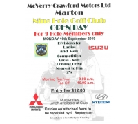 McVerry Crawford Motors Nine Hole Open Day