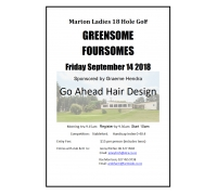 Ladies 18 Hole Golf GREENSOME FOURSOMES 14th Sep 2018