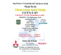 McVerry Crawford Motors 9 Hole Open Day